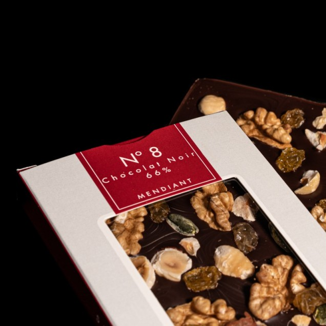 N°8 Chocolat noir 66% mendiant