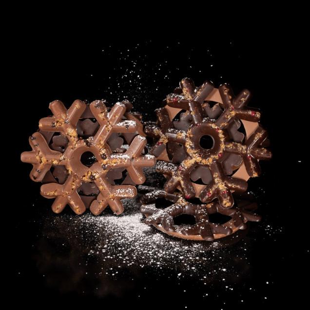 Flocon en chocolat maison
