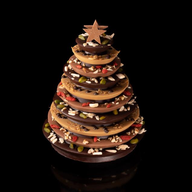 Sapin de Noël en chocolat